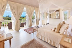 Master bedroom suite with sea views