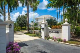 Entrance gate off of Palm Ridge in Royal Westmoreland Resort