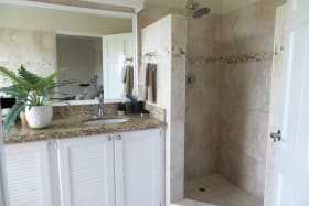 Bathroom with granite surfaces