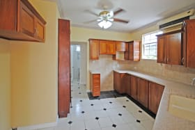 Kitchen with separate laundry