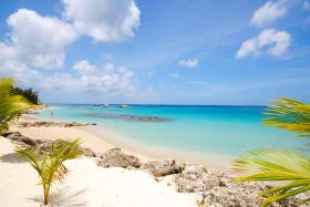 A few steps from No 12 is this stunning beach view towards Holetown