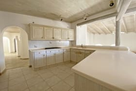 Kitchen overlooking the living areas