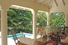 Veranda and plunge pool