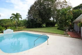 Pool Deck onto the garden and golf course