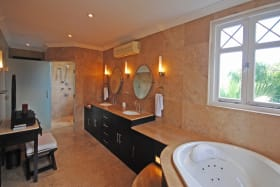 Large air conditioned master bathroom