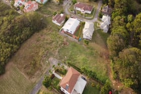 Aerial view of Patricia Gardens Lot 9 showing neighbouring homes