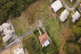 Aerial view of Patricia Gardens Lot 9
