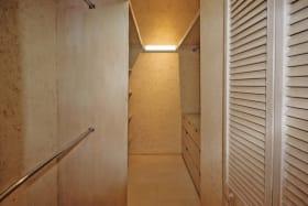 Master bedroom walk in closet