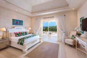 Secondary Master bedroom with vaulted ceilings