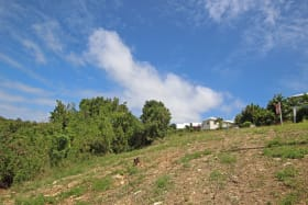 Ridge Close Lot 154. Sloping lot with lovely views of the Caribbean sea