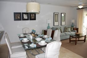 Dining with living area