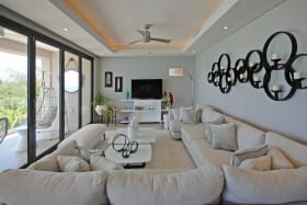Lounge opens to veranda