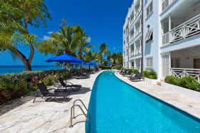 Lap pool overlooking the Caribbean Sea