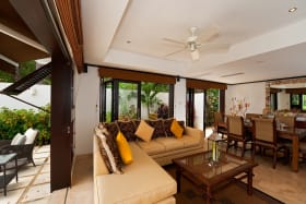 Indoor living and dining areas
