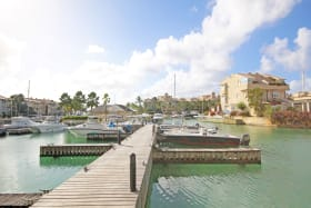 Looking towards the marina from the unit