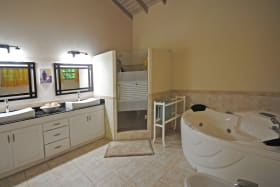 Main bathroom with shower and jacuzzi