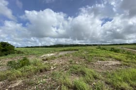 Standing on lot 1, facing North showing lands behind
