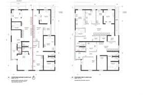 Floor plans of the entire building