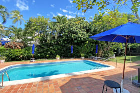 Pool area with deck