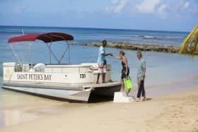 Water taxi boarding