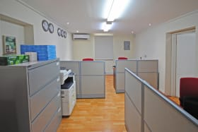 Ground floor one of the offices with cubicles