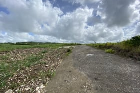 Showing Northern direction from road separating lots 1 and 2