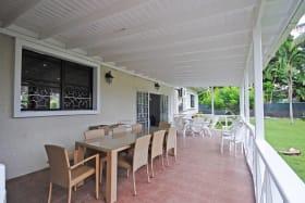 Spacious verandah opens to the lawn