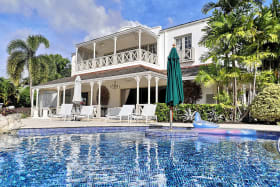 View of house from swimming pool