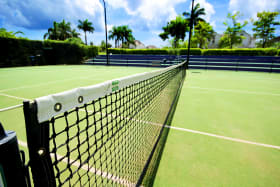 One of 4 tennis courts at Sugar Hill