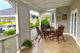 Spacious patio with outdoor seating