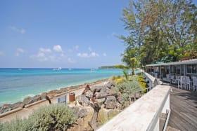 View of Holetown boardwalk from Drift Lounge