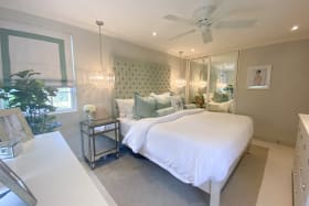 Master bedroom suite with built in wardrobes