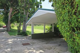 Car port belonging to the house