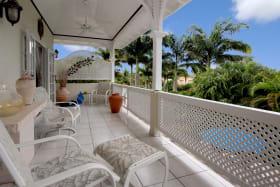 Upstairs balcony with good pool views