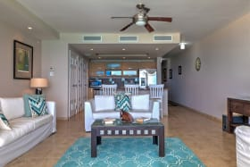 Open plan kitchen/ living room