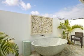 Bedroom 2 tub courtyard
