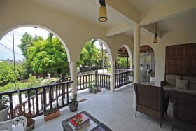 Spacious covered verandah