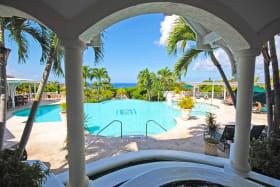 Main swimming pool and club house at Sugar Hill