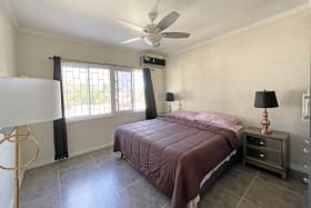 Guest Bedroom with AC and Fan