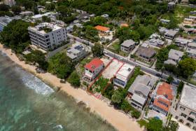 Aerial shot of Villa Blu