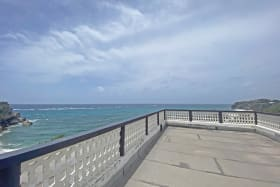 Stunning ocean views from upstairs patio terrace