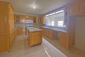 Kitchen leading to the living room
