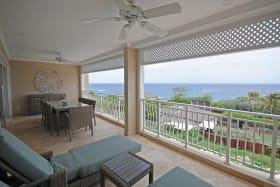 Wonderful ocean views from wide terrace