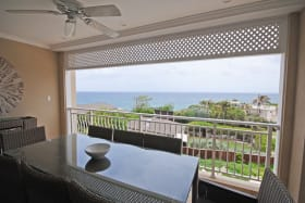 Ocean view from dining terrace