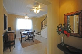 View of dining room from foyer