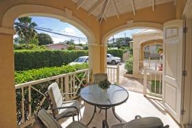 Living room opens to verandah
