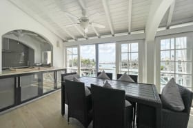 Dining area with spectacular views of the lagoon
