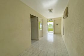 Upstairs corridor leading to patio