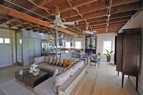 Open plan sitting room of Panboiler loft 2 bedroom apt