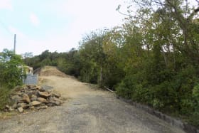 Road to the lot